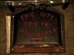 Historic Erie City Iron Works Large Boiler Door And Frame Erie Pa.