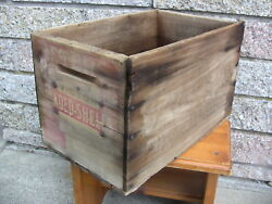 Antique Ammo Box Wooden Crate Peters Victor-us Arms Ammunition-loaded Shells Ads