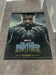 Black Panther set of 4 double sided Vinyl Banner 5'x7' theatre issued 2018 new