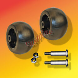 Set Of 2 Deck Wheels Fits Ariens John Deere Mtd Murray Snapper And Many Others