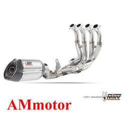 Full Exhaust System Steel Mivv Yamaha Yzf 600 R6 2015 15 Motorcycle