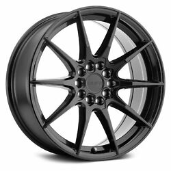 Ruff Racing Speedster Wheels 17x7.5 (38, 5x114.3, 72.1) Black Rims Set of 4