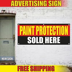 Paint Protection Sold Here Advertising Banner Vinyl Mesh Decal Sign Ceramic Auto