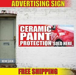 Ceramic Paint Protection Sold Here Advertising Banner Vinyl Mesh Decal Sign Auto
