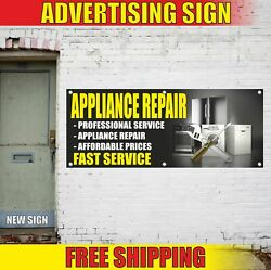Appliance Repair Advertising Banner Vinyl Mesh Decal Sign Fast Service We Fix