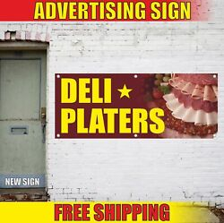 Deli Platers Advertising Banner Vinyl Mesh Decal Sign Served Specials To Go Food