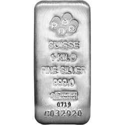 Kilo 32.15 Oz Silver Bar - Pamp Suisse .999 Fine With Assay Certificate