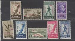 British Occupation Italian East Africa 1941 Unissued Mnh Unmounted Set Of 9