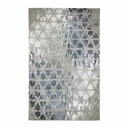 6and039x9and039 The Honeycomb Wool And Silk Award Winning Design Hand Knotted Rug R47517