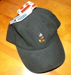 MICKEY MOUSE WALT DISNEY OLD NAVY Disney's Black Ball Cap Hat NEW WITH TAGS