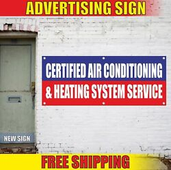Air Conditioning Heating System Service Advertising Banner Vinyl Mesh Decal Sign
