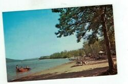 Nh West Ossipee New Hampshire Vintage Post Card Westward Shores Camp Area