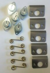 Dzus Self Ejecting Springs Back Plates 7/16 5 Pack Race Car Imca Body Panel Etc