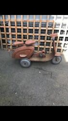 Vintage C1950/60s Childs Metal Toy Pedal Scooter Styled On Vespa / Lambretta