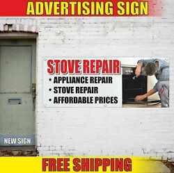 Stove Repair Advertising Banner Vinyl Mesh Decal Sign Appliance Fast Service Fix