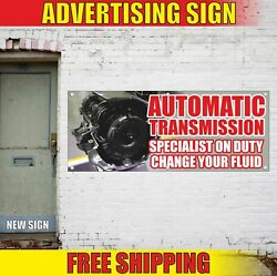 Automatic Transmission Specialist Advertising Banner Vinyl Mesh Decal Sign Fluid