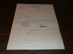 July 1900 Peoria And Eastern Railway Letter Regarding Lake Erie And Western Bill