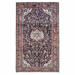 6and039x11and039 Gallery Size Red Vintage Farsian Lilihan Hand-knotted Rug R47506
