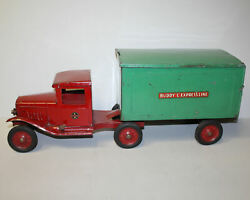 Antique Buddy L Express Line Pressed Steel Toy Truck
