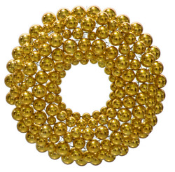3ft Gold Ball Ornament Wreaths Christmas Wall Hanging Holiday Decoration Outdoor