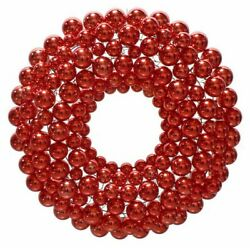 3ft Red Ball Ornament Wreaths Christmas Wall Hanging Holiday Decoration Outdoor