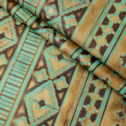 Springfield Leather Co. Embossed Southwest Turquoise Leather Rough Cut By Sqft