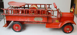 Antique Keystone Packard Model Riding Fire Truck Childandrsquos Toy