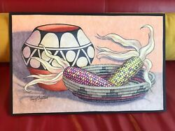 Henry Aguilar Santo Domingo 1980and039s Pen/pen Markers/acrylic Oil Pastels 11 X 17