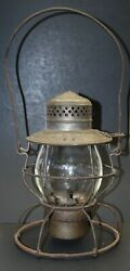 Very Rare Bands- Bevier And Southern Lantern W/ Cast Burlington Route Globe
