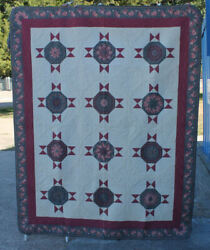 Blooming Quilt – Tufted Design 1993 Made By Pam Miller - Award Winning Quilt