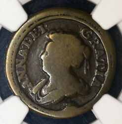 Great Britain Pattern Farthing 1713 Vg8 Ngc Copper Queen Anne Extremely Rare