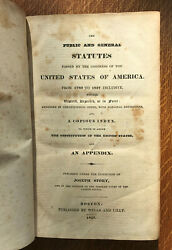The Public And General Statutes Of Congress By Joseph Story 1827 Thomas Jefferson