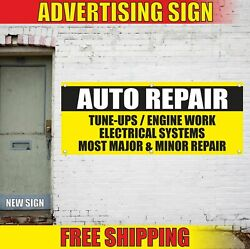 Auto Repair Advertising Banner Vinyl Mesh Decal Sign Engine Electrical Tune-ups