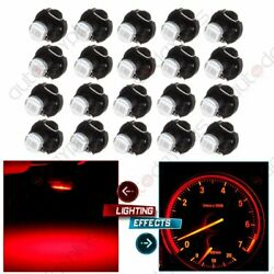 20x Red T3 Neo Wedge 8mm Base LED Bulbs Dash HVAC Climate Control A/C Light Lamp