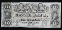 10 Canal Bank Of New Orleans Canal And Banking Company Remainder Note La-1570-30