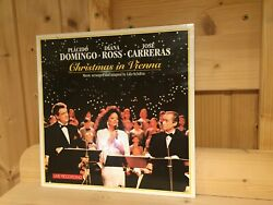 Signed By Placido Domingo Christmas In Vienna Orig 1st 1993 Sony Lp Signiert