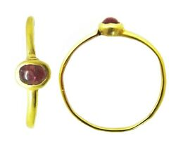 Charming 13th-14th Century Medieval Gold And Garnet Finger Ring Wearable Size 6