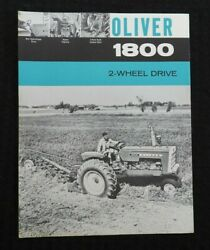 1963 The Oliver 1800 Two-wheel Drive Tractor Specifications Brochure Very Nice