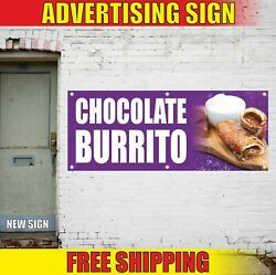 Chocolate Burrito Advertising Banner Vinyl Mesh Decal Sign Candy Sweet Tex Mex
