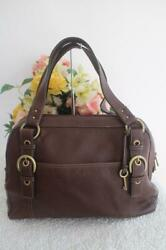 FOSSIL Tapestry fabric with suede trim. Adjustable longer strap. Exterio 300