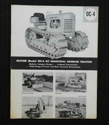 1957 The Oliver Model Oc-4 Industrial Crawler Tractor Specifications Brochure