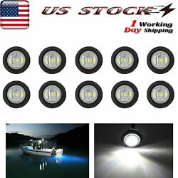 10 X 3/4 Round Marine Boat Cabin Courtesy Lights Deck Led Walkway Stair Light