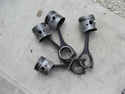 Ford 8n Tractor Engine Motor 4 Pistons Rings Rod Rods Piston Ring Caps N