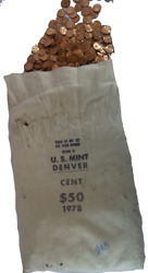 1978-d Lincoln Cent Bu Bag 5000 Coins Free Shipping