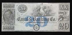Canal And Banking Co. 20 New Orleans Louisiana Unissued Remainder Note