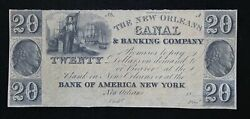 New Orleans Canal And Banking Company 20 Unissued Remainder Note La 1570-40 9q9r