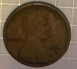 1915-d Lincoln Wheat Cent - Pulled From Album From Estate Sale