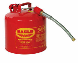 Eagle U2-51-s Red Galvanized Steel Gas Safety Can With 7/8 Flex Spout,5 Gallon