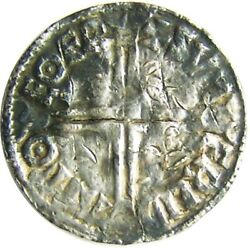 978 - 1013 A.d. King Aethelred Ii Silver Long Cross Penny By Svmerleda Of York