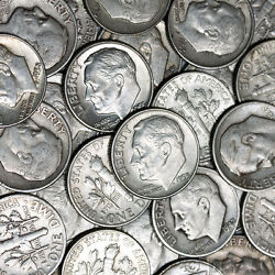 Make Offer 5 Troy Pounds Lb Lot 90 Silver Coins Quarter And Dimes 1964 And Older